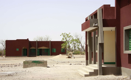 The classroom building, administration building and sanitation facilities were fully completed this year.