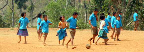 Huay Kuk Students Playing Soccer
