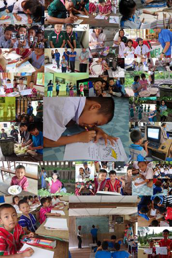 Collage created by Peggy Khoo of volunteer trip to Mae Pon