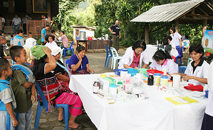 Mobile Clinic Program: a team of nurses and doctors from Bangkok conducts yearly screenings in 16 villages