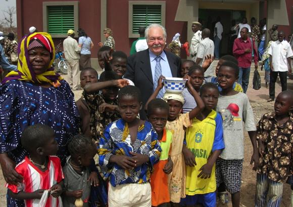 Outside Sogpelce' Secondary School, Burkina Faso