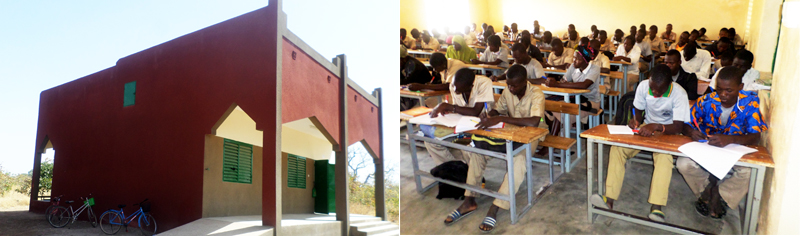 New Classroom at Sogpelce' Secondary School Campus built in 2015