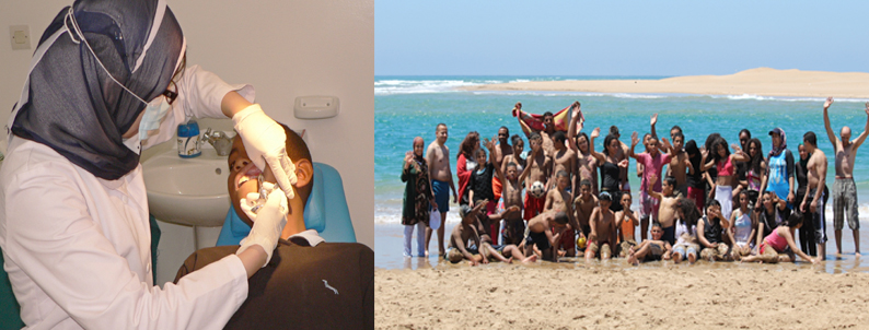 Student dental check up and Yearly beach excursion