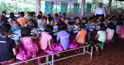 Pasquale Pistorio in Huay Kuk Village Primary School Canteen, Thailand