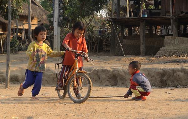 Kids Playing Bike