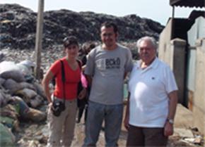 Ariane Roulet Magides, Director of PSE Mr. Sarapich, and Pasquale Pistorio