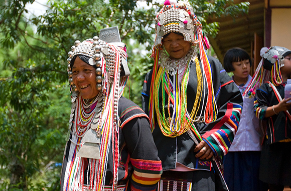 Akha Hill Tribe women in one of the villages supported by the Foundation