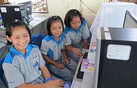 School computer room in Mae Phon Village
