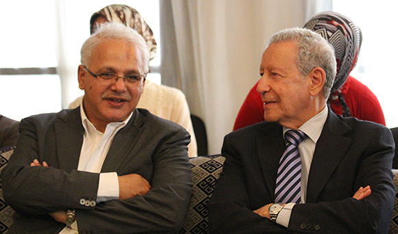 Mohammed Lasry, Foundation Country Manager Morocco, and Rachid Belmokhtar, Moroccan Minister of Education