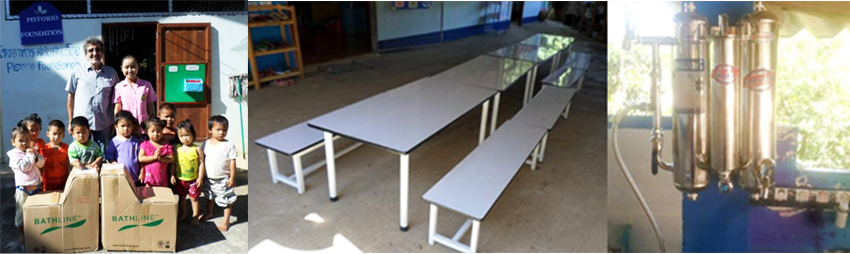 New furniture and water filter for MakamPon preschool canteen