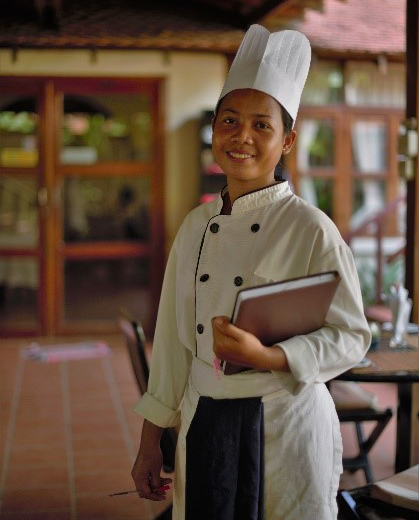 Pissey, teacher of cooking in PSE school of hospitality.