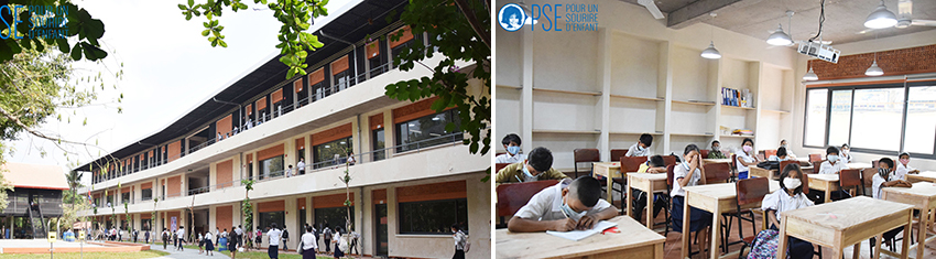 In 2020, the Foundation chose to participate in rebuilding and expanding one of the schools on the PSE campus.